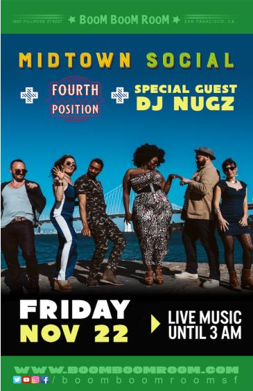MIDTOWN SOCIAL + FOURTH POSITION (+ DJ NUGZ): Main Image