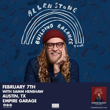 SOLD OUT: Allen Stone with Samm Henshaw: Main Image