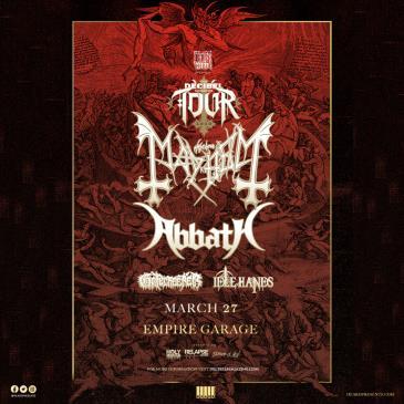 Decibel Magazine Tour ft. Mayhem & Abbath (CANCELLED): Main Image