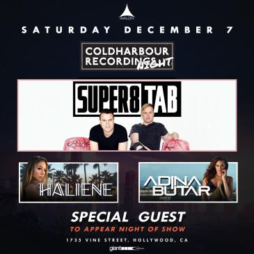 Coldharbour Night: Super8 & Tab, Haliene, Adina Butar: Main Image
