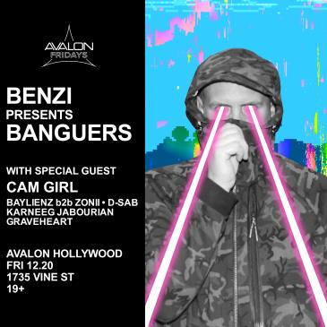 BENZI PRESENTS BANGUERS + CAM GIRL: Main Image