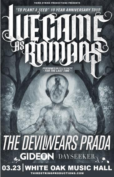 We Came As Romans: To Plant A Seed 10 Year Anniversary Tour: Main Image