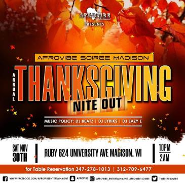 AFROVIBE SOIREE Annual Thanksgiving Nite Out: Main Image