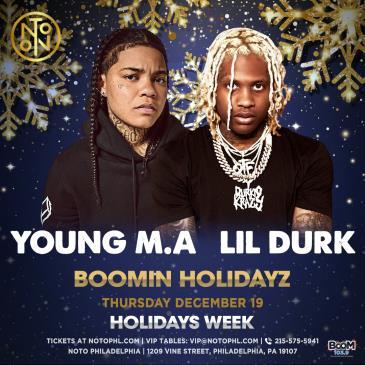 Young M.A + Lil Durk + Casanova: Boomin Holidayz: Main Image