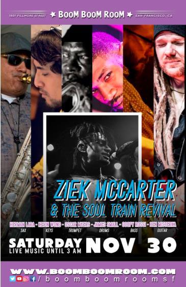 Ziek McCarter & The SOUL TRAIN REVIVAL: