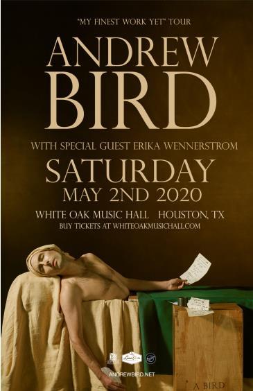 "Andrew Bird - ""My Finest Work Yet"" Tour: Main Image"