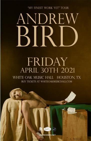 "Andrew Bird - ""My Finest Work Yet"" Tour (CANCELLED): Main Image"