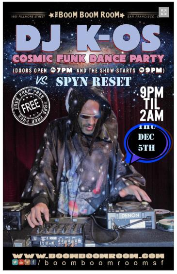 K-OSmic Funk Disco  vs. SPYN RESET (No Cover Charge): Main Image