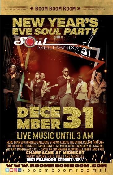 NEW YEAR'S EVE FUNKY PARTY: *SOUL MECHANIX* (+ Champagne): Main Image