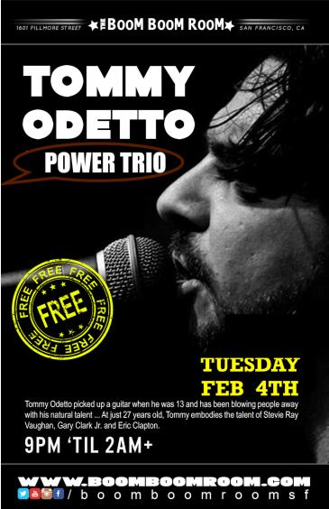 Tommy Odetto Power Trio (free show): Main Image