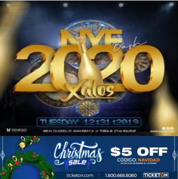 NEW YEAR'S EVE 2020 XALOS: Main Image