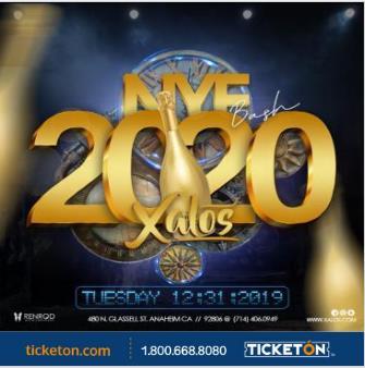 NEW YEAR'S EVE 2020 XALOS: Main Image