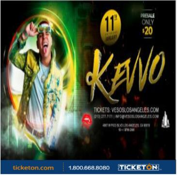VESOS LA PRESENTA: KEVVO 105F Tickets Available At the Door: Main Image
