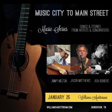 Music City to Main Street Songwriter Show: Main Image