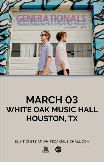 Generationals with Special Guest Sarah Jaffe: Main Image