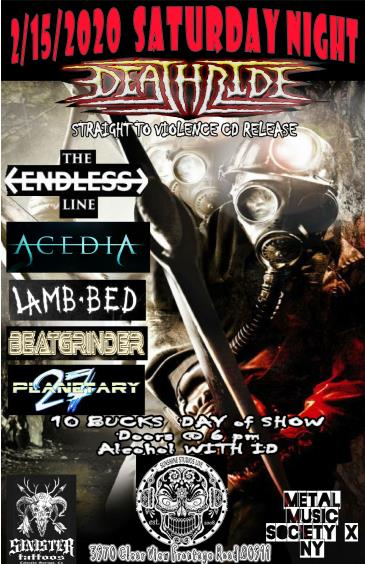 DEATHRIDE CD Release Concert: Main Image