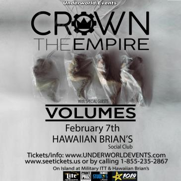 Crown The Empire & Volumes Presented by Underworld Events: Main Image