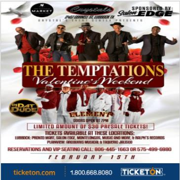 THE TEMPTATIONS VALENTINES WEEKEND