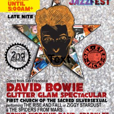 DAVID BOWIE Glitter-Glam SPECTACULAR [LATE NITE] New Orleans-img
