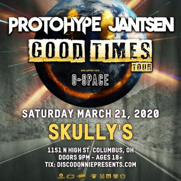 Protohype + Jantsen + G Space - COLUMBUS - POSTPONED: Main Image