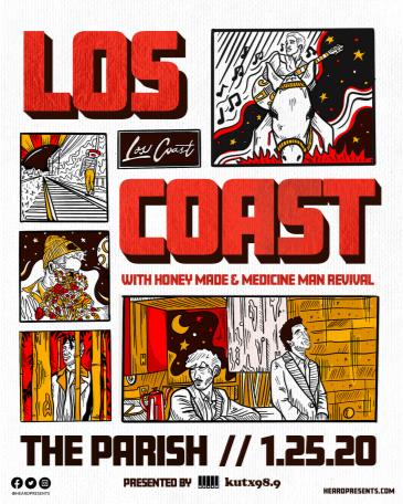 KUTX Presents: Los Coast w/Honey Made & Medicine Man Revival: Main Image