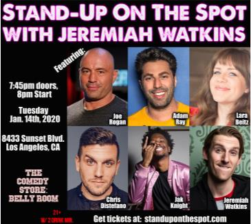 Stand Up On The Spot with Jeremiah Watkins: Main Image