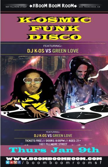 K-OSmic Funk Disco  (No Cover Charge) w/ K-OS vs. GREENLOVE: