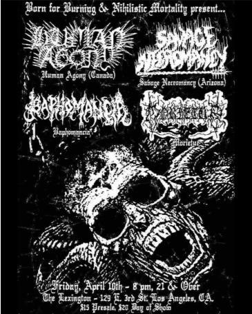 Human Agony, Savage Necromancy, Baphomancia, Morietur: Main Image
