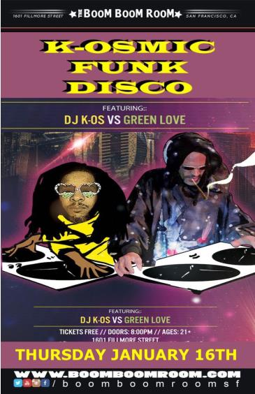 K-OSmic Funk Disco  (No Cover Charge) w/ K-OS & GREENLOVE: Main Image