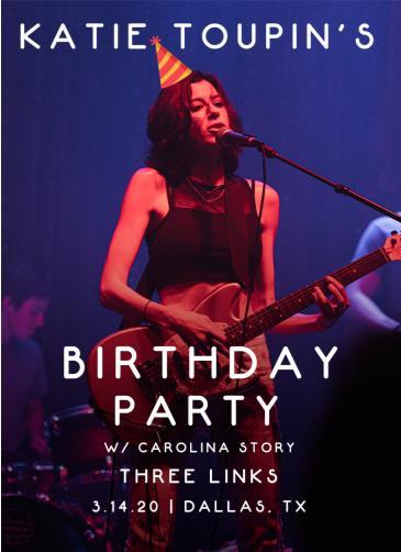 Katie Toupin Birthday Show! (Canceled): Main Image