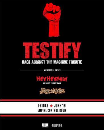 Testify: Rage Against The Machine Tribute: Main Image