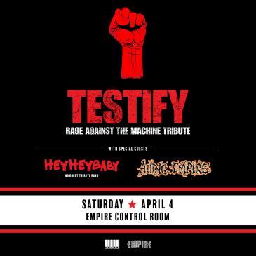 Testify: Rage Against The Machine Tribute w/ Hey Hey Baby-img