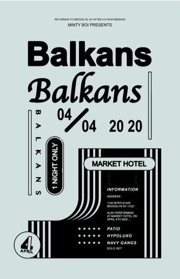 Balkans Reunion in NYC w/ Patio, Hypolyxo, Navy Gangs: Main Image