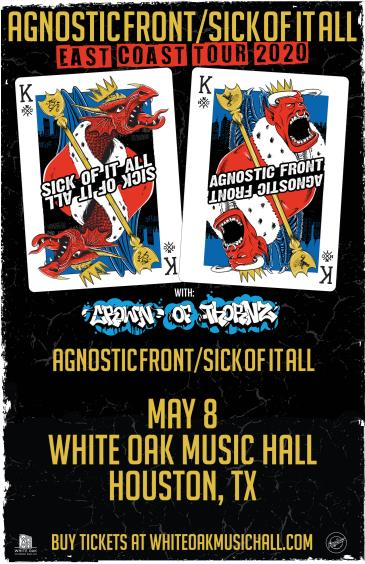 Sick of it All and Agnostic Front (CANCELLED): Main Image