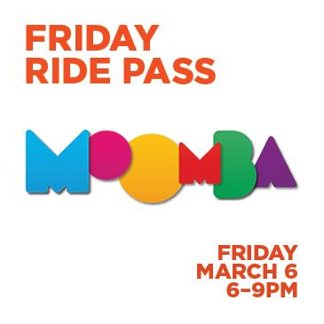 FRIDAY RIDE PASS - VALID FROM 6PM - 9PM