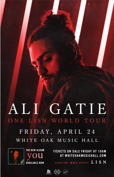 ALI GATIE - ONE LISN WORLD TOUR (CANCELLED): Main Image