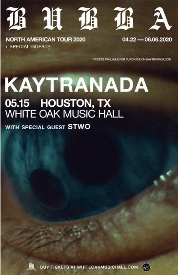 Kaytranada - Bubba North American Tour: Main Image