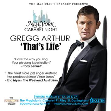 GREGG ARTHUR - 'That's Life' A New York Cabaret Night: Main Image
