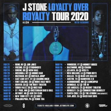 J Stone - Loyalty Over Royalty w/ Fashawn (POSTPONED TBA): Main Image