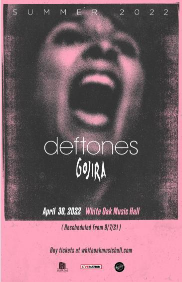 Deftones - Tour 2022: