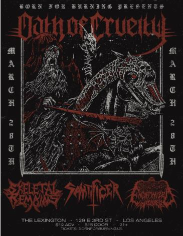 Oath of Cruelty, Skeletal Remains, Sakrificer, Encoffinized: Main Image