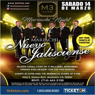 CANCELED-LIVE MARIACHI DINNER & SHOW: Main Image