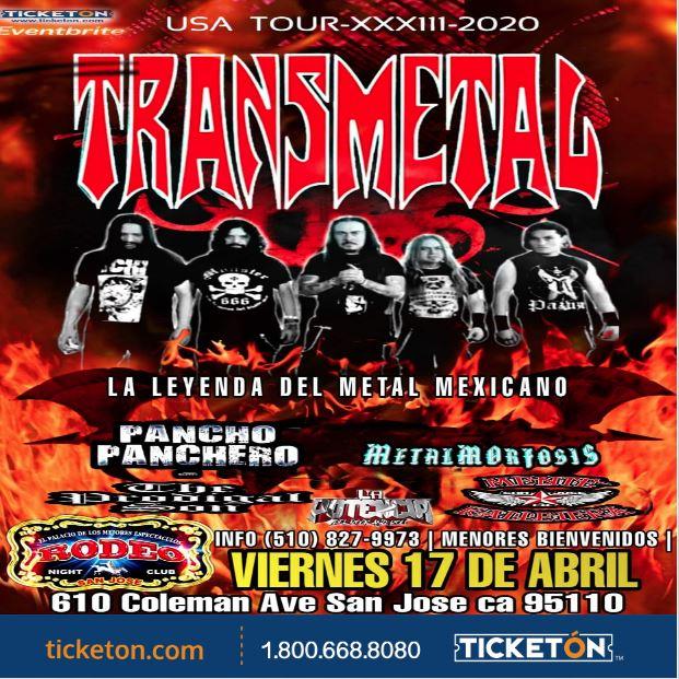 Transmetal Usa Tour Xxx111 2020 Tickets The Club Rodeo