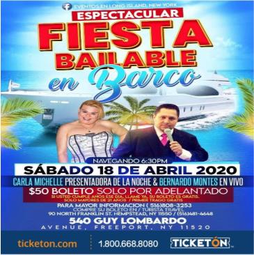 POSTPONED  FIESTA BAILABLE EN BARCO: Main Image