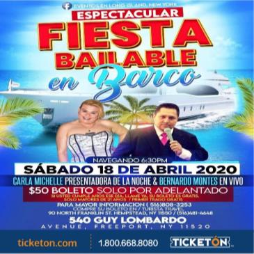 POSTPONED  FIESTA BAILABLE EN BARCO