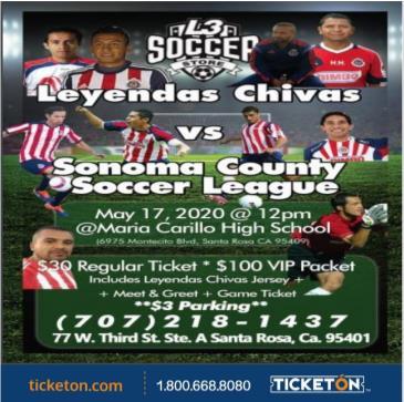 POSTPONED LEYENDAS CHIVAS VS SONOMA COUNTY S.L.: Main Image