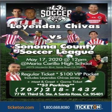 POSTPONED LEYENDAS CHIVAS VS SONOMA COUNTY S.L.