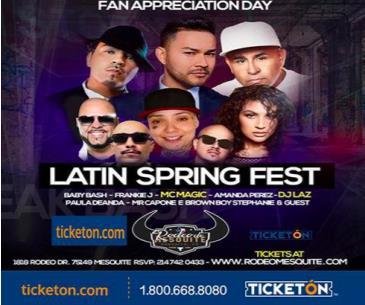 Cancelado/LATIN SPRING FEST CON FRANKIE J: Main Image