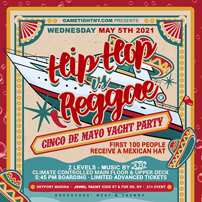 Cinco De Mayo Sunset Cruise 5/5 Yacht Party at Skyport Marina Jewel Yacht Tickets Party | GametightNY.com