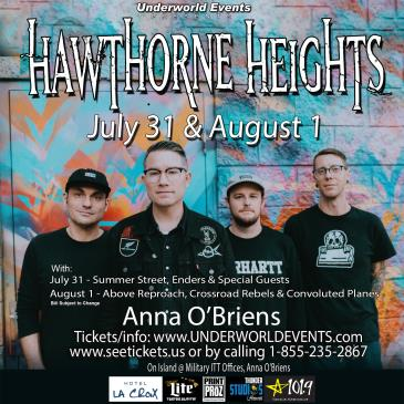 Hawthorne Heights in Hawaii (Cancelled): Main Image